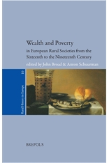 Wealth and Poverty in European Rural Societies from the Sixteenth to Nineteenth Century